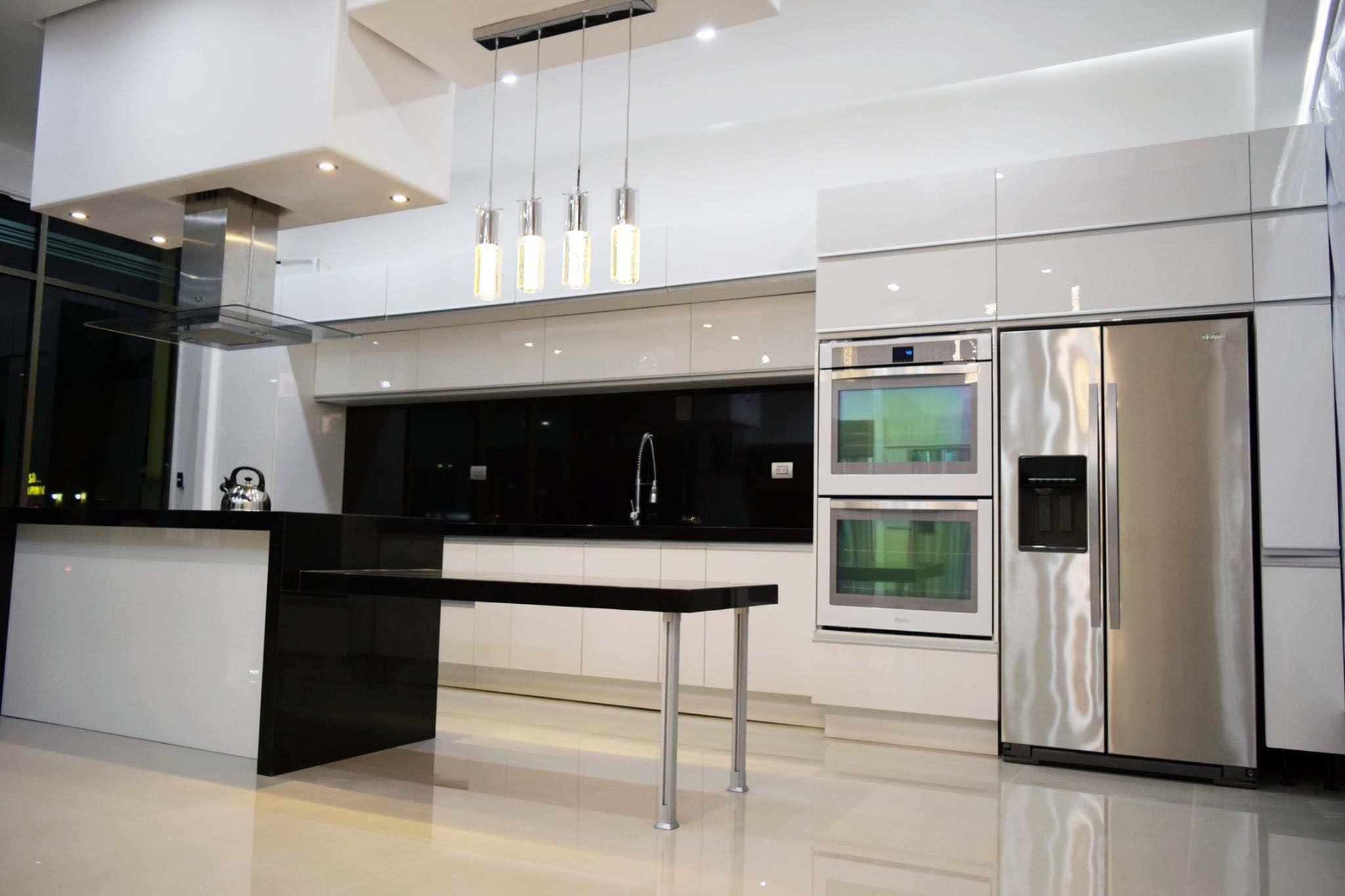 cocina blanca alto brillo keepler
