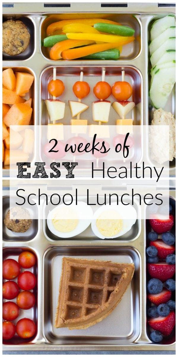 10 almuerzos escolares saludables para niños