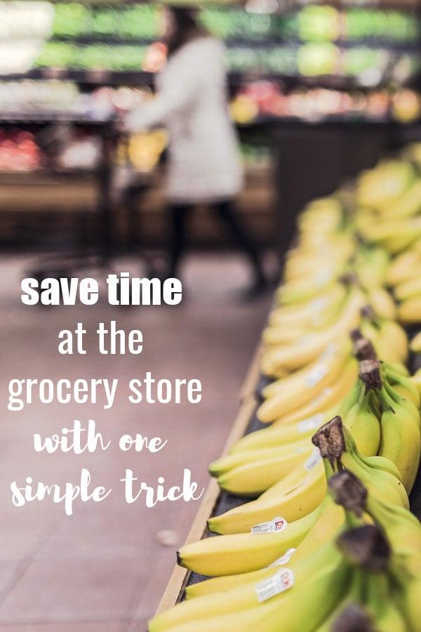Ahorre tiempo en la tienda de comestibles con un simple truco