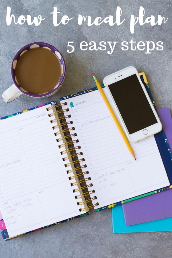 Cómo hacer comidas en 5 pasos simples