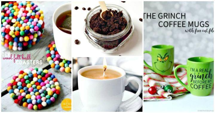 25 Fácil regalo de bricolaje e ideas de manualidades para los amantes del café